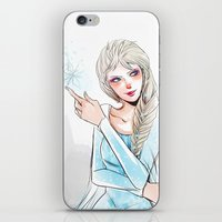 elsa iPhone & iPod Skins featuring Elsa by The Radioactive Peach