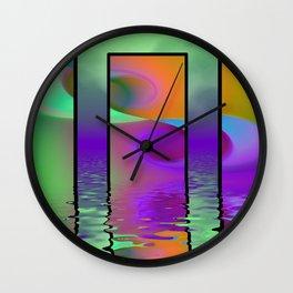 fractal triptych -2- Wall Clock
