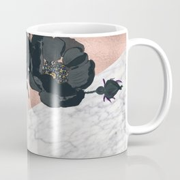 Floral marble rose gold Coffee Mug