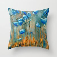 matty healy Throw Pillows featuring  Bluebells. by Mary Berg