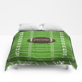 Football Field with Yard Lines and Football Comforters