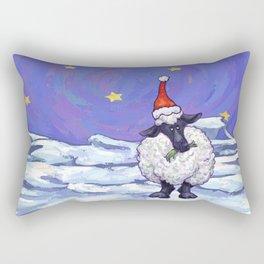 Sheep Christmas Rectangular Pillow