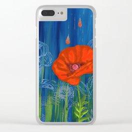 Poppy Night Clear iPhone Case