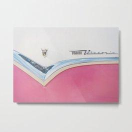 Pink Crown Vic Metal Print