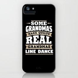 Line Dance Grandmother iPhone Case