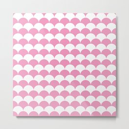 Light Pink Clamshell Pattern Metal Print