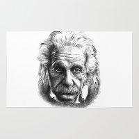 einstein Area & Throw Rugs featuring Einstein by Jaume Tenes
