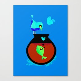 A Fish May Love a Bird but Where Would They Live?  Canvas Print