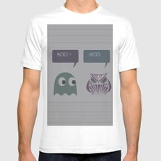 boo! Mens Fitted Tee MEDIUM White