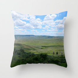 Watercolor Landscape, Fossil Butte 02, Wyoming Throw Pillow