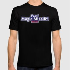 I Cast Magic Missile Black Mens Fitted Tee SMALL