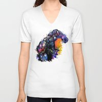 venom V-neck T-shirts featuring Venom by Vincent Vernacatola