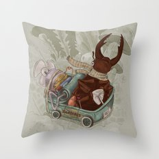 One man's trash - New Wheels Throw Pillow