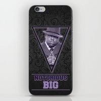 notorious big iPhone & iPod Skins featuring *Notorious BiG* by Gold Blood