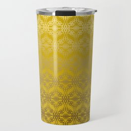 Yellow weaves pattern Travel Mug