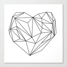 Heart Graphic (black on white) Canvas Print