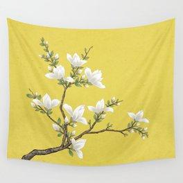 Magnolia F: Minhwa-Korean traditional/folk art Wall Tapestry