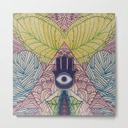 Third Eye Hamza Art Metal Print