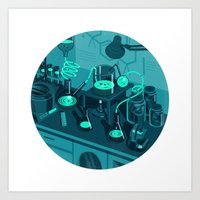 lab Art Prints featuring The Lab by Jason Solo