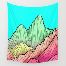 Candy Colour Mounts Wall Tapestry