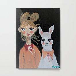 ~ Rama Llama ~ Art By Milly Moo 12 Year Old Artist  Metal Print