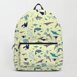 Ocean Life Pattern Backpack