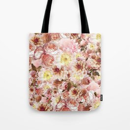 pink floral print | flower photography Tote Bag