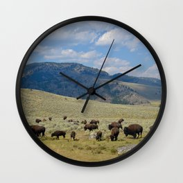 Roaming Bison Wall Clock