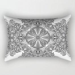 black, white and gray  Rectangular Pillow