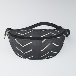 Mudcloth Big Arrows in Black and White Fanny Pack
