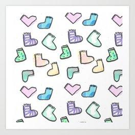 sock pattern Art Print