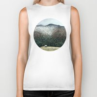 cabin Biker Tanks featuring Cabin in the woods by General Design Studio