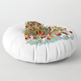 A Decorated Christmas Tree Floor Pillow