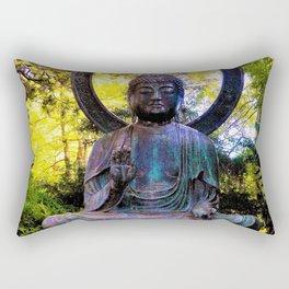 Buddha in the park Rectangular Pillow
