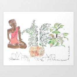The Blue Elephant Art Print