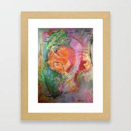 Abstract Orange Framed Art Print