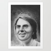 carl sagan Art Prints featuring carl sagan by dollface87