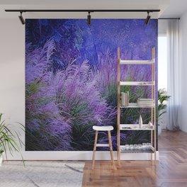 Purple long grass Wall Mural