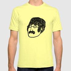 John. Mens Fitted Tee Lemon LARGE