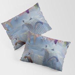 Dream Gliding Cityscape Flash Pillow Sham