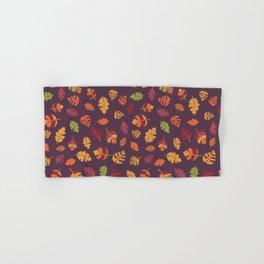 Fall Autumn Leaves Hand & Bath Towel