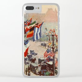 Heath, Alice - New York of Today 1917 - The Plaza at 5th Ave Clear iPhone Case