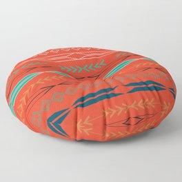 Navajo motifs in red Floor Pillow