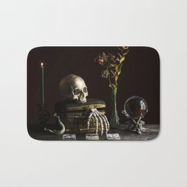 Vanitas, Memento Mori, Macabre Halloween Photo Bath Mat