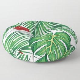 Tropical Summer illustration Floor Pillow