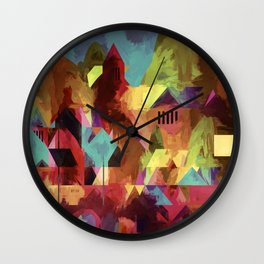 Little old town - modified 3 hours later Wall Clock
