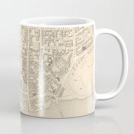 Vintage Map of Perth Scotland (1851) Coffee Mug