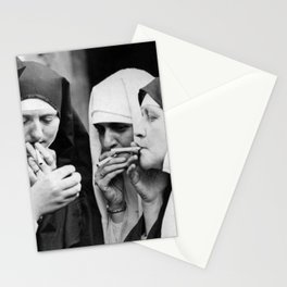 Smoking Nun // 2 Stationery Cards