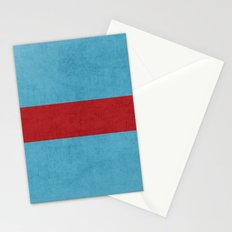 folk blue and red classic Stationery Cards