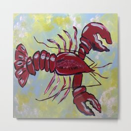 Lobster Bisque Metal Print
